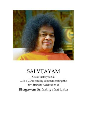 SAI VIJAYAM - International Sri Sathya Sai Organization