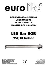 EUROLITE LED Bar RGB 252/10 20°/40° User Manual
