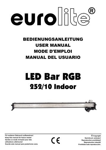 EUROLITE LED Bar RGB 252/10 User Manual