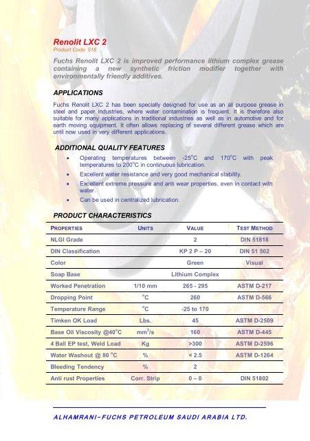 Renolit FWA Product Code: