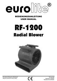 Eurolite RF-1200 Radialgebläse