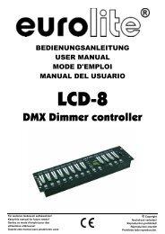 EUROLITE LCD-8 User Manual - LTT Versand GmbH