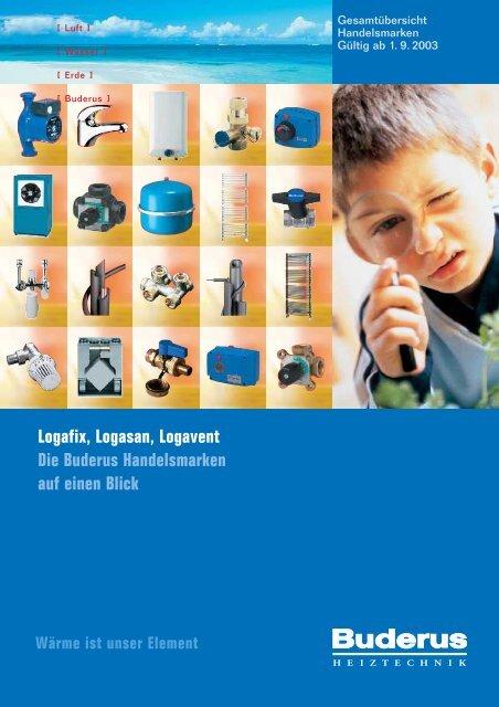 Logafix-Katalog 2003 - Buderus