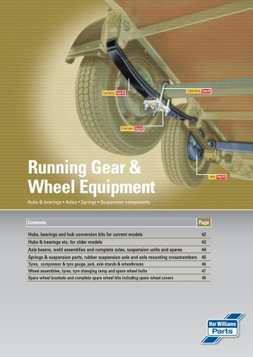 Running Gear & Wheel Equipment Hubs & Bearings - Ifor Williams