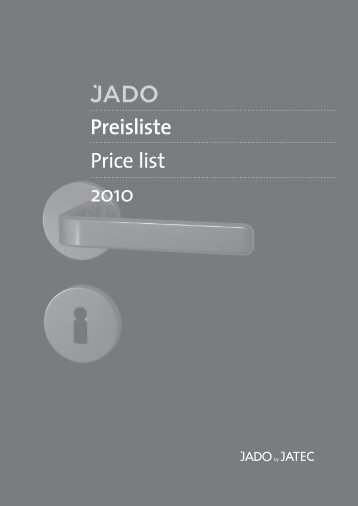 Preisliste Price list 2010 - Jado