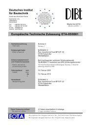 Europäische Technische Zulassung ETA-05/0001