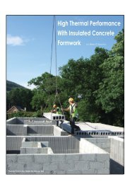 High Thermal Performance With Insulated Concrete Formwork