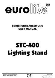 EUROLITE STC-400 User Manual