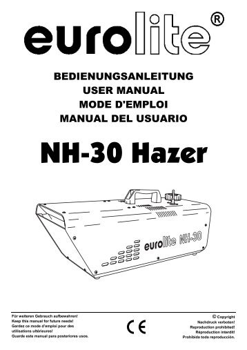 EUROLITE NH-30 Hazer User Manual