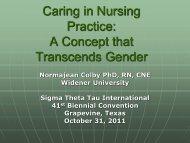 Caring in Nursing Practice - IUPUI