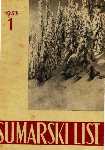 ŠUMARSKI LIST 1/1953