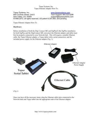 Ethernet Adapter - Topaz Systems, Inc.