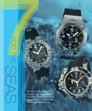 WT_2009_01: REVIEW: LUXURY DIVERS´WATCHES