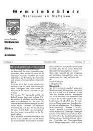 Jahrgang 8 - Dezember 2004 - Nummer 31