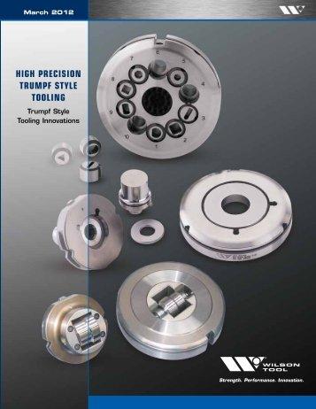 High Precision Trumpf Style Tooling Catalog - Wilson Tool