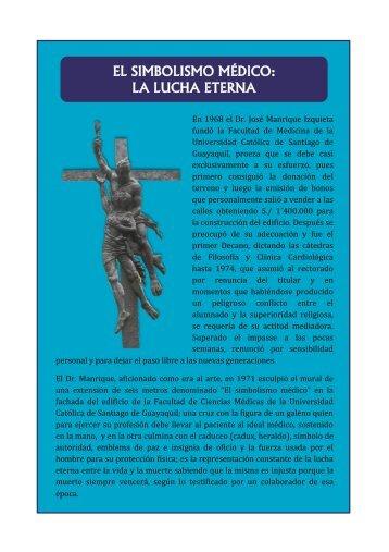 el simbolismo médico: la lucha eterna - 201 - Universidad Católica ...