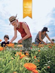 Sustainability Report 2010 - Weleda