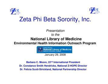 Disaster Initiative Report - Zeta Phi Beta Sorority