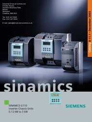 Siemens Sinamics G110 Catalogue D11.1 - Industrial Drives and ...