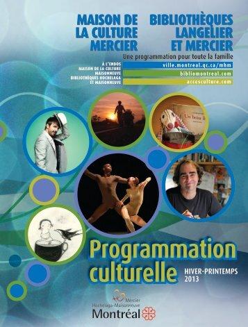 Programmation Programmation culturelle culturelle