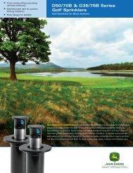 D50/70B & D35/75B Series Golf Sprinklers - John Deere