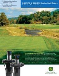 D50/D70 & D35/D75 Series Golf Rotors - John Deere