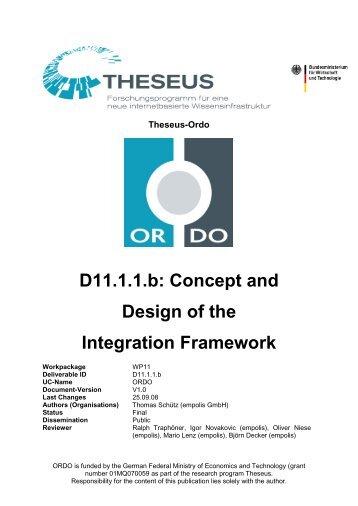 D11.1.1.b: Concept and Design of the Integration Framework - Eclipse