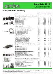 Preisliste 2012*** NEU (im PDF-Format - Grün