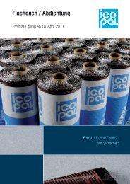 Preisliste Flachdach / Abdichtung - Icopal GmbH