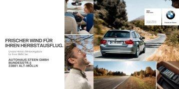 frischer wind für ihren herbstausflug. - Autohaus Steen GmbH