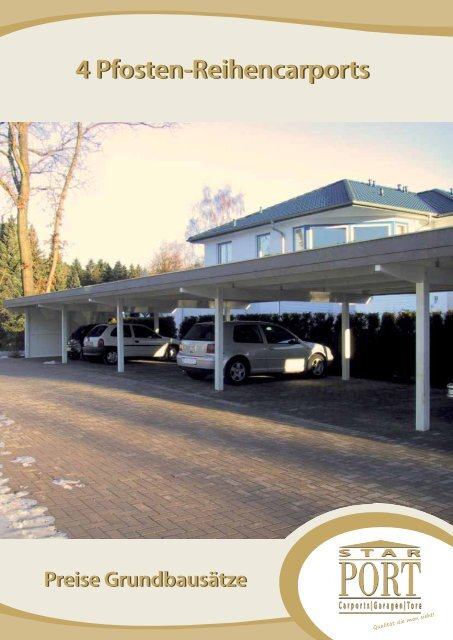 Preisliste Reihencarports - Musterhaus.net
