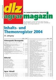 Inhalts- und Themenregister 2004 - Deutscher ...