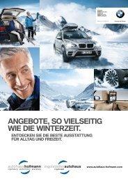 Angebote, so vielseitig wie die winterzeit. - Autohaus Hofmann