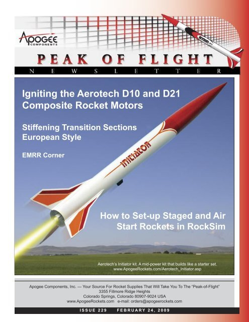 Igniting the Aerotech D10 and D21 Composite Rocket Motors