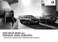 DER NEUE BMW 3er. ORIGINAL BMW ZUBEHÖR. DER