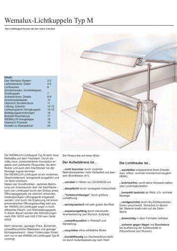 Wemalux-Lichtkuppeln Typ M - bau docu Österreich