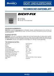 TECHNISCHES DATENBLATT Dicht-Fix - Bostik
