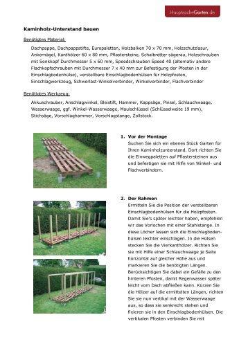 Kaminholz-Unterstand bauen - Garten