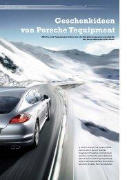 Geschenkideen von Porsche Tequipment - Porsche Club Deutschland