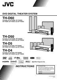 TH-D60 TH-D50 TH-D5 TH-D4 - JVC