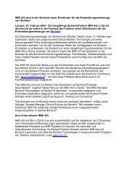 IMIS AG wird in der Schweiz neuer Distributor für die ...