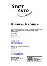 Handbuch HL-KI 2012_07 - StattAuto Lübeck