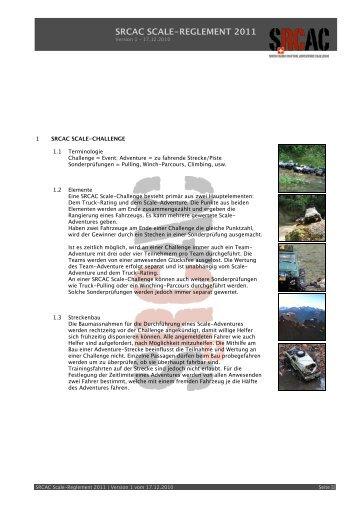 SRCAC SCALE-REGLEMENT 2011 - Swiss RC Adventure Challenge
