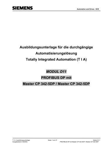 MODUL D11 PROFIBUS DP