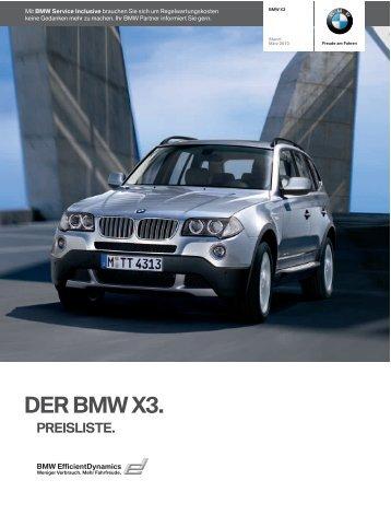 Preise X3 - BMW-Treff