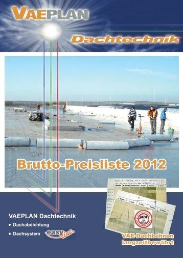 Brutto-Preisliste 2012 - vaeplan
