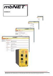 Handbuch mbNET - MB CONNECT LINE. Solutions for internet ...