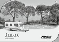 Preisliste/Technische Daten Summer Edition Caravan (1,8 - Dethleffs