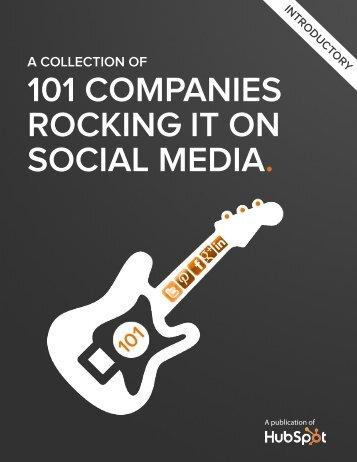 101 COMPANIES ROCKING IT ON SOCIAL MEDIA.