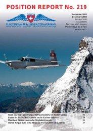 POSITION REPORT No. 219 - AOPA Switzerland